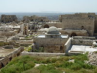 The Mosque of Abraham in the Citadel of Aleppo, originally built by the Byzantines as a church