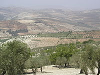 The nearby Kurd Mountains at the northwest of Aleppo