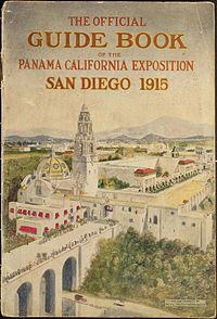 Balboa Park on the cover of a guidebook for the World Exposition of 1915
