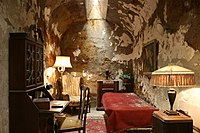 Capone's cell at the now closed Eastern State Penitentiary in Philadelphia, where he spent about nine months starting in May 1929