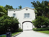 The entrance of Al Capone's mansion in Miami, Florida, located in 93 Palm Avenue. Capone bought the estate in 1927 and lived there until his death in 1947.
