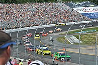 Cars racing in the 5-hour Energy 301