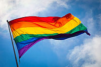 The rainbow flag is a symbol of gay pride.