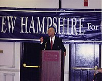 Gramm at a campaign Nashua, New Hampshire in 1995