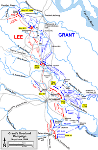 The 1864 Overland Campaign, including the Battle of Yellow Tavern