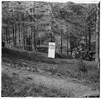 Stuart's gravesite after the war, with temporary marker