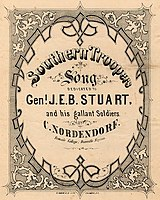 Southern Troopers Song, Dedicated to Gen'l. J. E. B. Stuart and his gallant Soldiers, Sheet music, Danville, Virginia, c. 1864