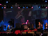 Performing with Jools Holland at Borde Hill Garden 23 June 2007.