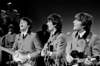 McCartney, Harrison and Lennon performing on Dutch TV in 1964