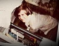 A Polaroid image depicting a likely unknown victim of Corll. This image was taken in 1972 or 1973