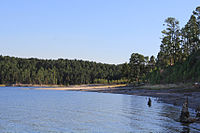 Lake Sam Rayburn. Four victims killed by Corll and his accomplices in 1973 were buried at this location