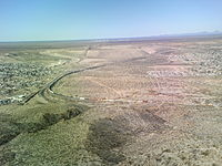 The start of the border fence in the state of New Mexico—just west of El Paso, Texas.