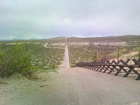 Vehicle barrier in the New Mexico desert 2010