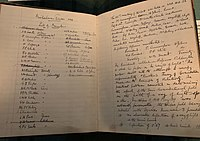 """The minute book of Cambridge ∇2V Club for the meeting where Eddington presented his observations of the curvature of light around the sun, confirming Einstein's Theory of General Relativity. They include the line """"A general discussion followed. The President remarked that the 83rd meeting was historic""""."""