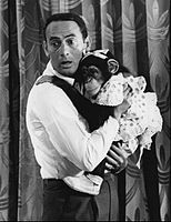 With a Marquis chimp in The Joey Bishop Show sitcom