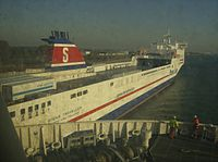 Stena Traveller at the Hook of Holland