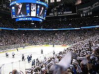 The Vancouver Canucks is an NHL team who play their home games in Rogers Arena.