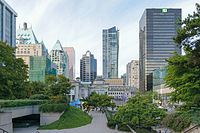 Robson Square is a civic centre and public square designed by local architect Arthur Erickson.