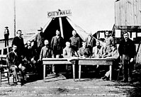 The first Vancouver City Council meeting following the Great Vancouver Fire in 1886
