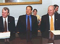 Crowley with Vice President Al Gore in 1999