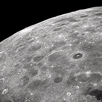 A portion of the lunar far side as seen from Apollo8