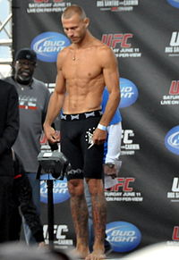Cerrone at the weigh in for the UFC 131