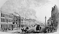 View of 2nd Street and Main Street, Louisville, in 1846