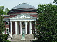 Grawemeyer Hall, modeled after the Roman Pantheon, is the University of Louisville's main administrative building.