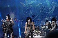 Kiss on stage in 2013