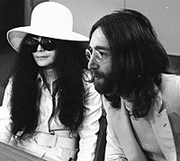 Yoko Ono and John Lennon when they married, March 1969