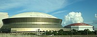Mercedes-Benz Superdome and Smoothie King Center in New Orleans.