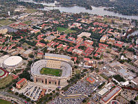Aerial view of Louisiana State University's flagship campus