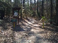 Entrance to the Bald Eagle Nest Trail at South Toledo Bend State Park