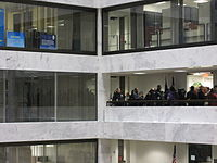 The 2009 line outside Feinstein's office for unclaimed tickets to the First inauguration of Barack Obama