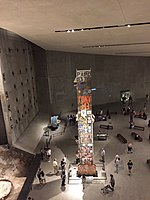 The Last Column removed from the World Trade Center site on display at the 9/11 Museum