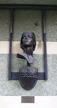 Monument on the building which now stands where Greta Garbo was born in Södermalm