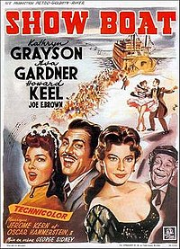 """French poster from the 1951 MGM film version of """"Show Boat"""""""