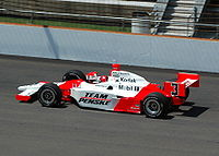 Practicing for the 2007 Indianapolis 500.