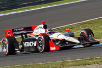 Castroneves driving in the 2011 Indy Japan: The Final