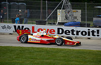 Castroneves competing in the 2012 Chevrolet Detroit Belle Isle Grand Prix