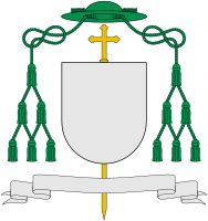 One form for the coat of arms of a Catholic bishop