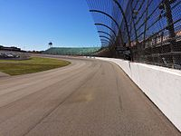 Turn 1 at Michigan International Speedway, 2014. The track was repaved in 2012.