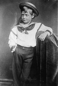 George as a young boy, 1870