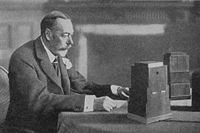 The King delivering his Christmas broadcast, 1934