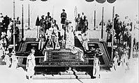 King George and Queen Mary at the Delhi Durbar, 1911