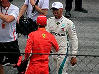The 2018 season was the first time in the sport that two four-time World Champions—Hamilton and Vettel—would be competing for a fifth title.