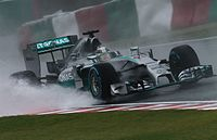 Hamilton won the 2014 Japanese Grand Prix in torrential rain, and compared the conditions to his victory at the 2008 British Grand Prix.