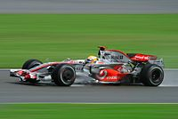 Hamilton won by over a minute from second-place Nick Heidfeld at the 2008 British Grand Prix.