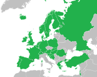 Regular participants in 1994. Changes from 1992 include the addition of Central and Eastern European countries, and the separation of ex-Yugoslav states.