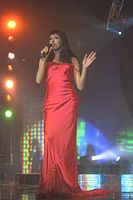 Dana International, the contest's first trans participant, and winner of the 1998 contest for Israel